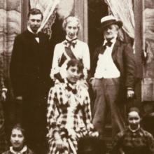 Familie Wagner vor Wahnfried 1881