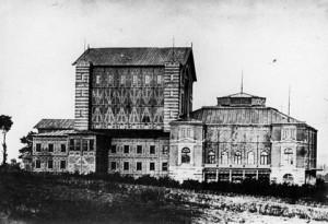 Bayreuther Festspielhaus im Jahr 1873